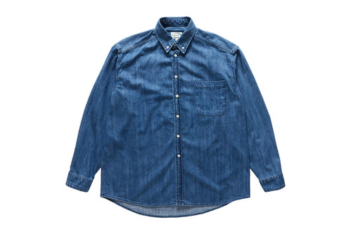 Oversize Denim Shirts (Medium Blue)