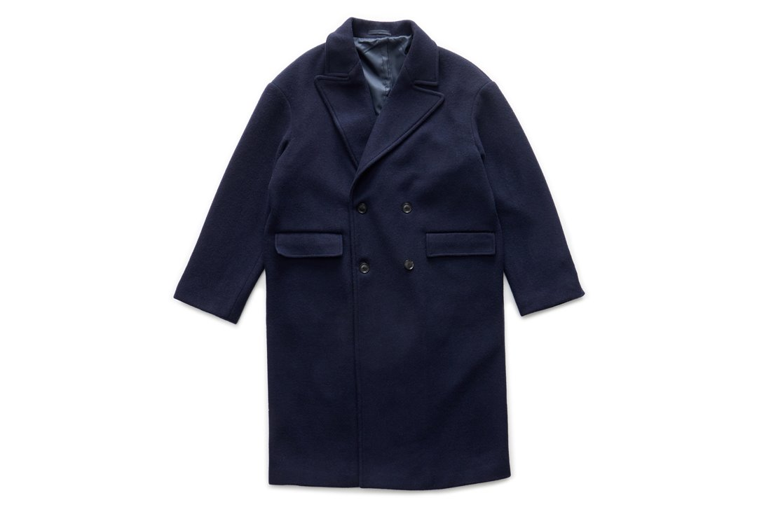 Oversize Double Coat (Navy)